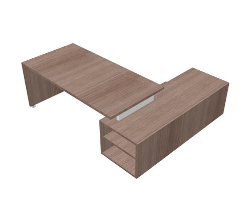 Scrivania Angolare Piano e Gambe in legno mobile di servizio - 00