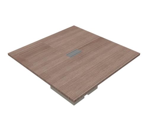Tavolo riunione quadrato composto gamba metallo - 00