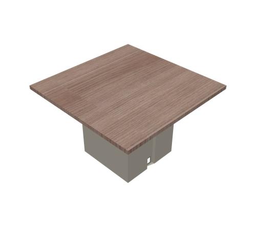 Tavolo riunione quadrato gamba metallo - 00