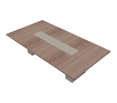 Tavolo riunione rettangolare composto con gambe in Metallo - 00