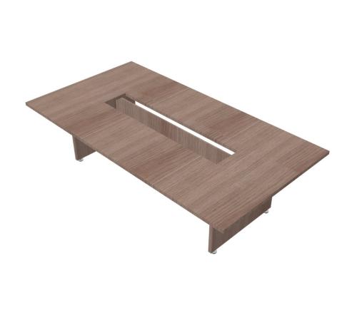 Tavolo riunione rettangolare composto con gambe in legno - 00