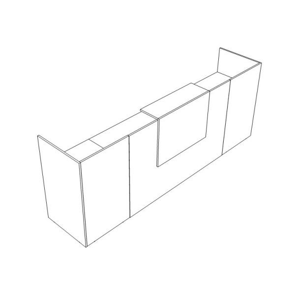 Reception Lineare Enjoy con Mobili - Grafico